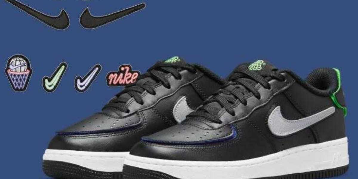 Latest Drops Nike Air Force 1 1 Black White Multicolor For Kids