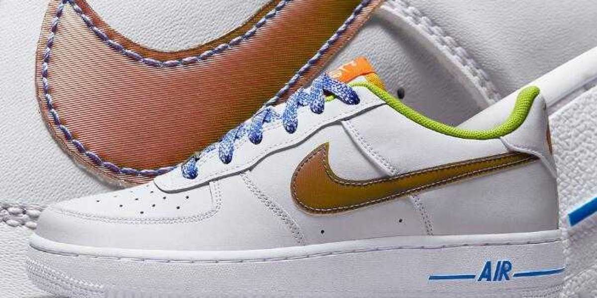 This GS Womens Air Force 1 Dress Up Color-Shifting Swooshes